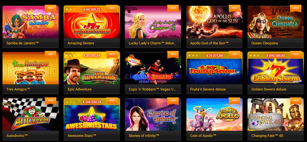 Neue Spiele im Stargames Casino