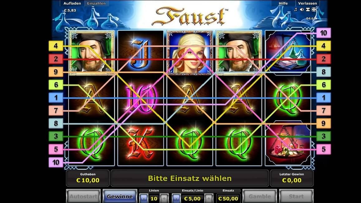 Faust Spielautomaten