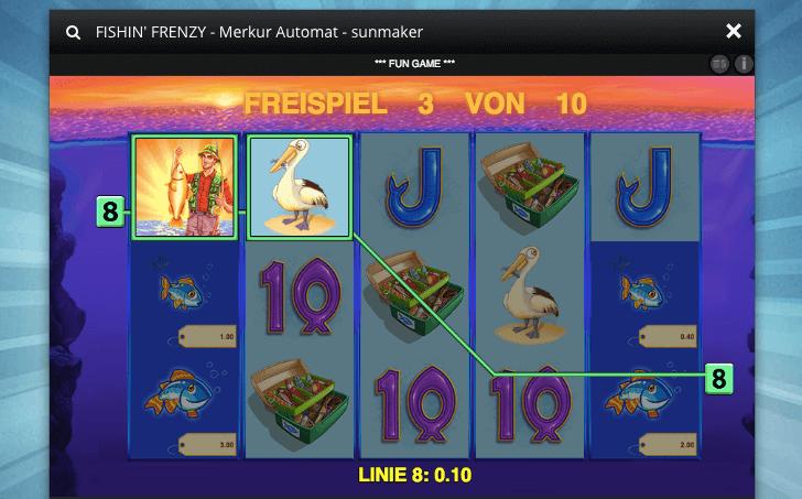 Neuer Slot von Merkur: Fishin Frenzy