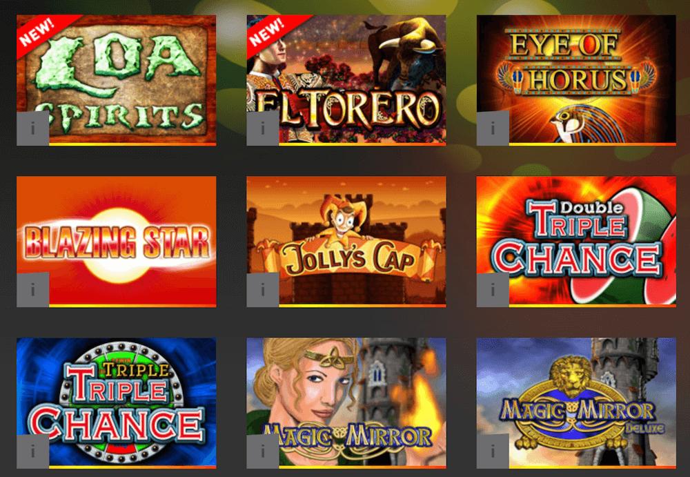 Spiele im Merkur Online Casino in der Übersicht
