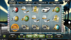 Mega Fortune Spielaufbau