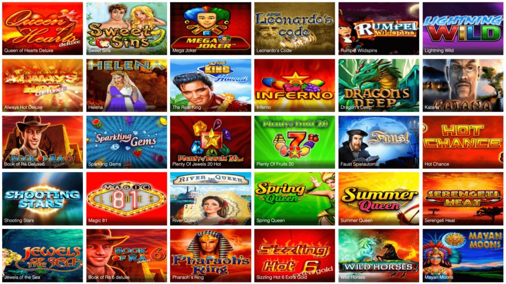 Novoline Spiele im Ares Casino