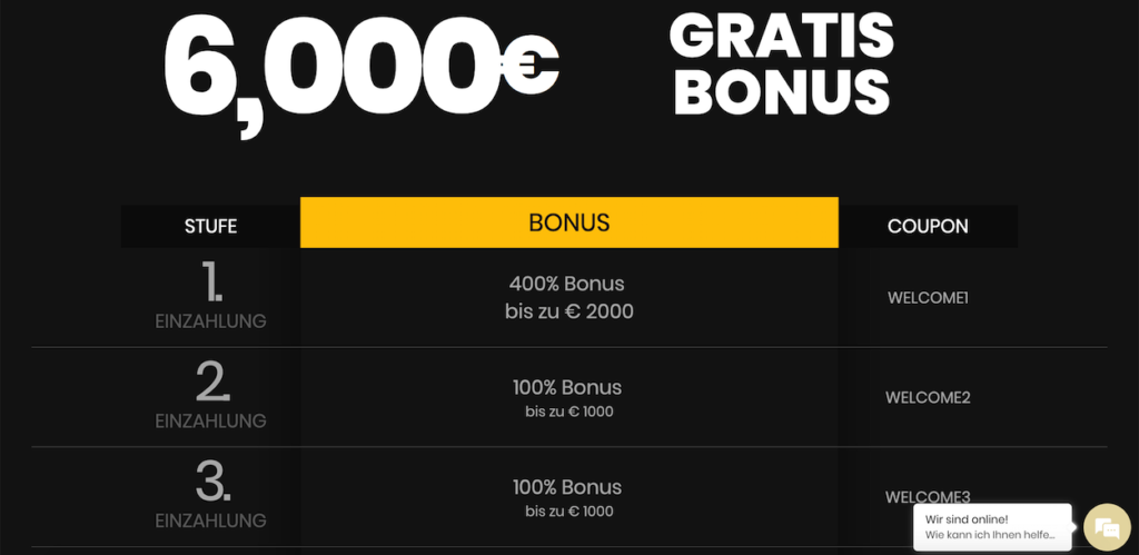 4 Crowns Casino Bonus
