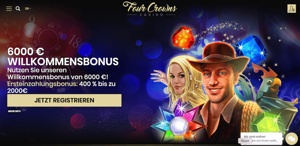Mainpage 4 Crowns Casino