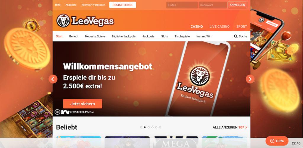Startseite LeoVegas