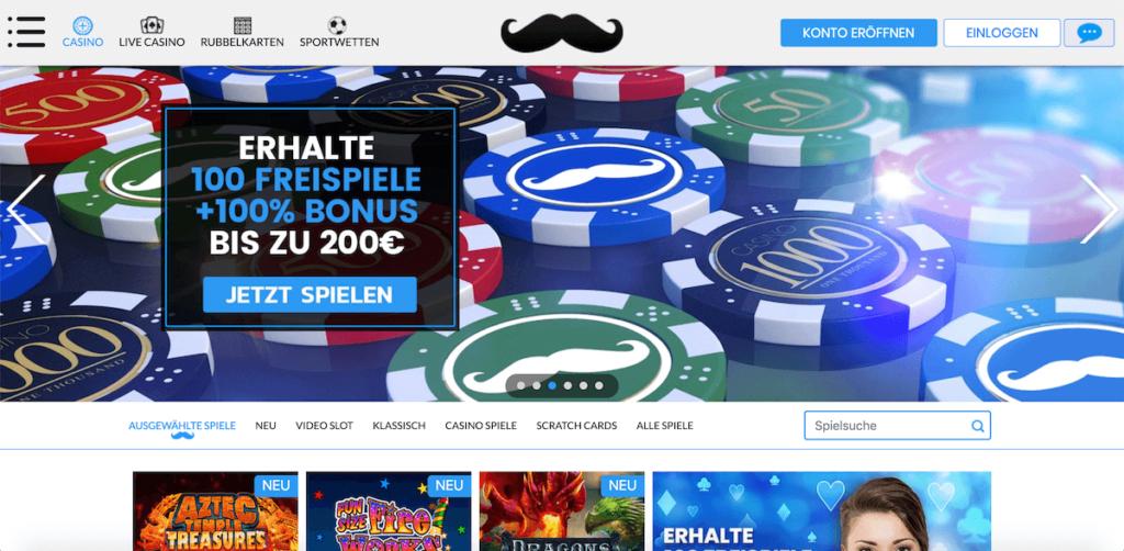 Aktuelle Startseite des Mr. Play Casinos