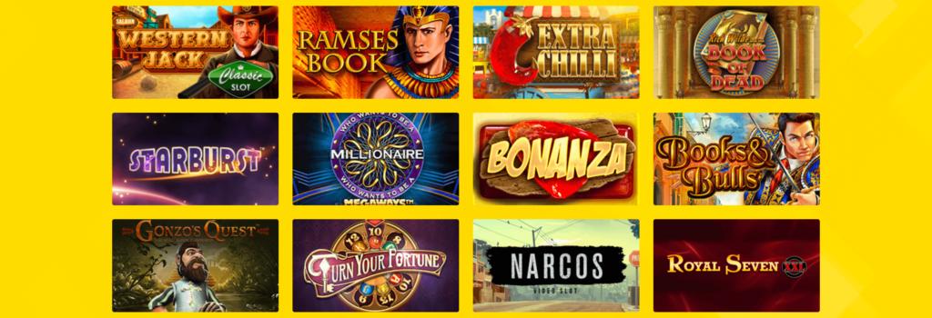 Spielauswahl im Hyperino Casino