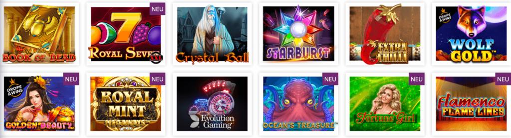 Spieleauswahl im Lordlucky Casino