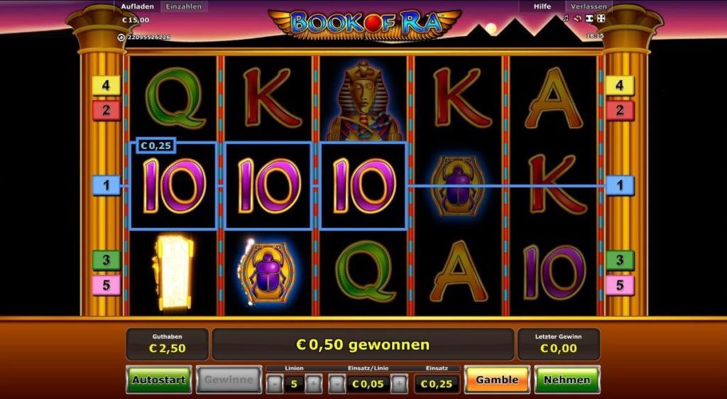 Book of Ra - früher der beliebteste Slot in den Online Casinos