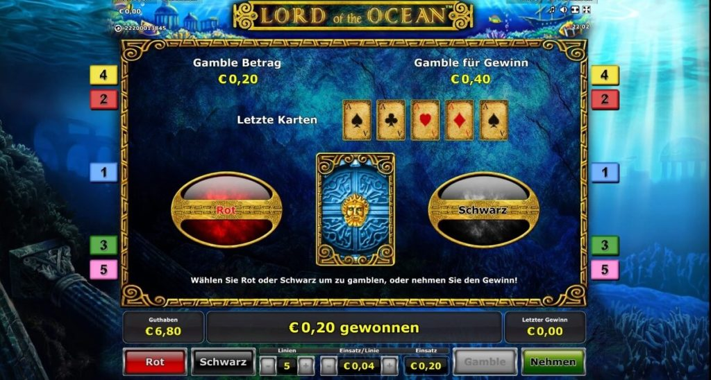 Gamble Funktion bei Lord of the Ocean