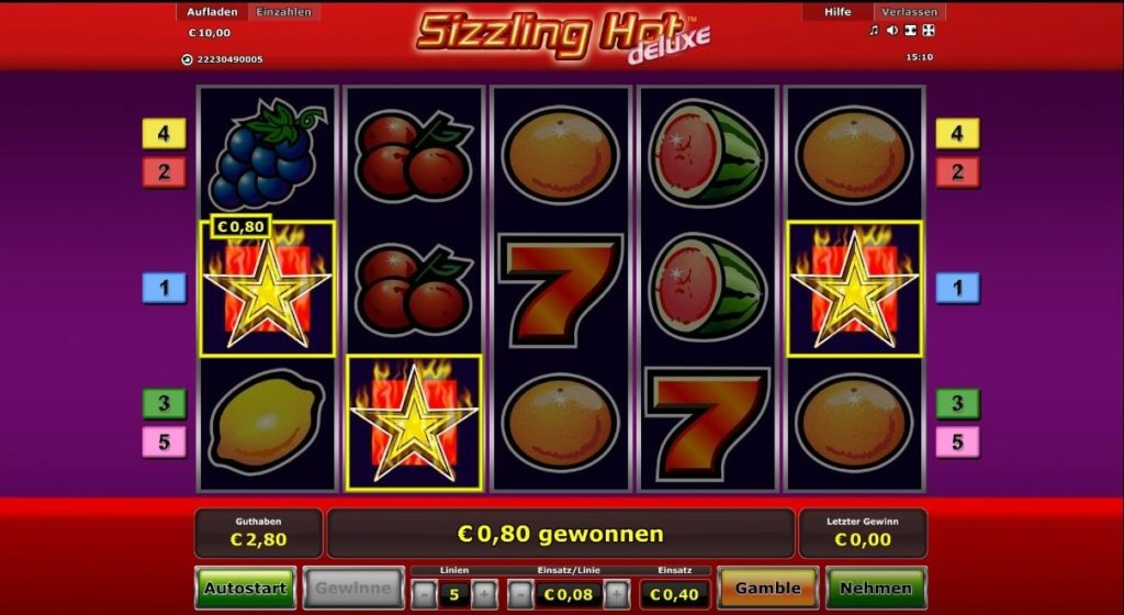 Scatter Symbol bei Sizzling Hot