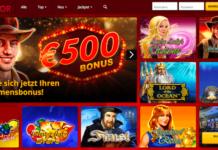 Startseite des Supergaminator Casinos