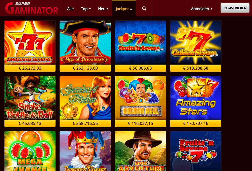 Jackpot Slots im Supergaminator Casino