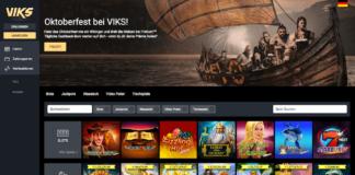Startseite des Viks Casino