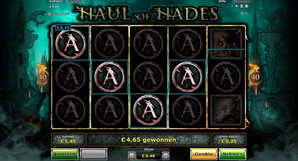 Gewinn bei Haul of Hades