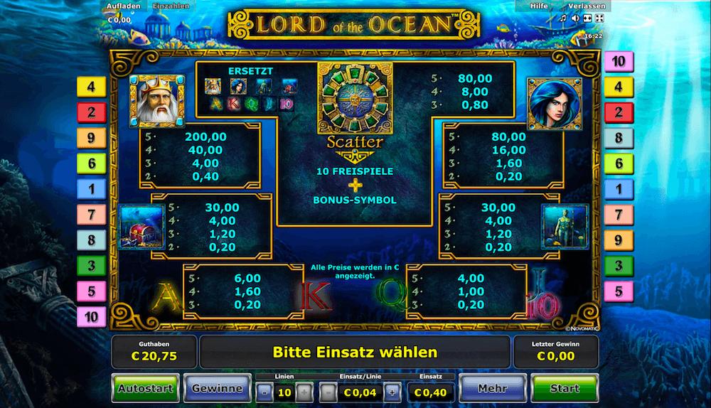 Lord Of Ocean Kostenlos Spielen