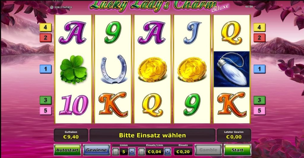 Aufbau des Lucky Lady Charm Slot