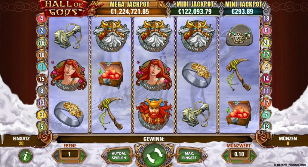 Jackpot: Spieler gewinnt 7,2 Millionen bei Hall of Gods