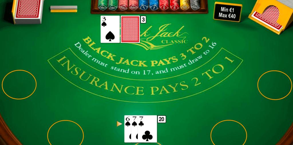 Blackjack im Wunderino Casino