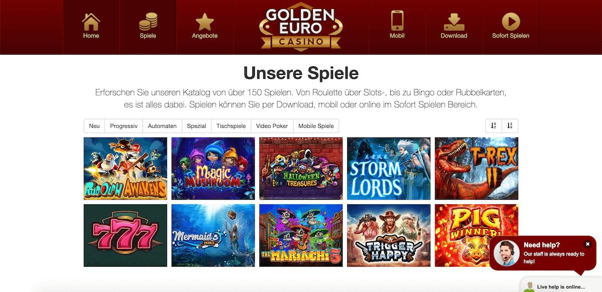 Spiele im Golden Euro Casino