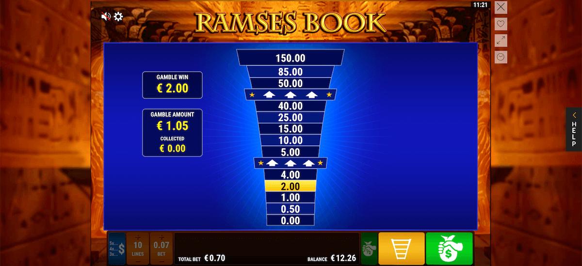 Risikoleiter bei Ramses Book