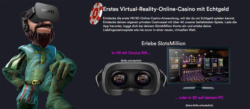 VR Casino bei slotsmillion