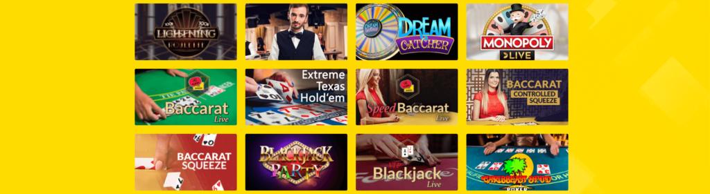 Hyperino Live Dealer Spiele
