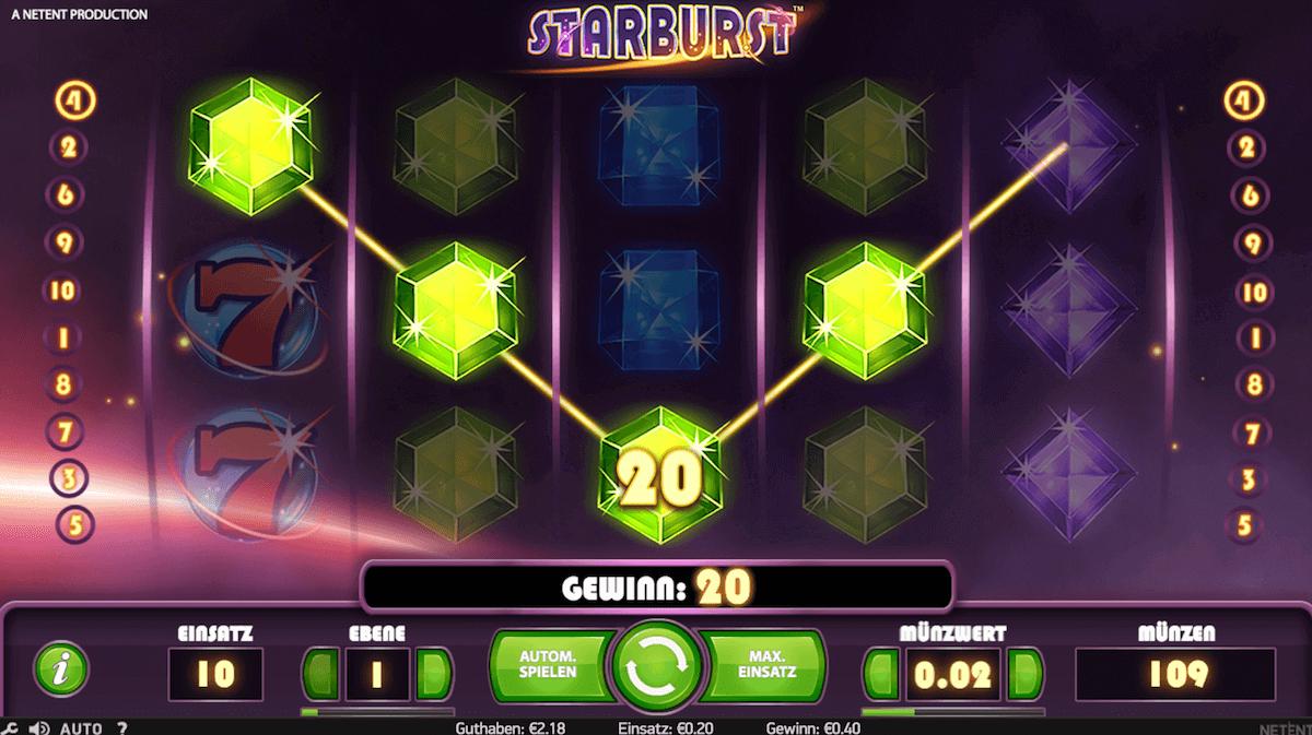Spielautomat Starburst