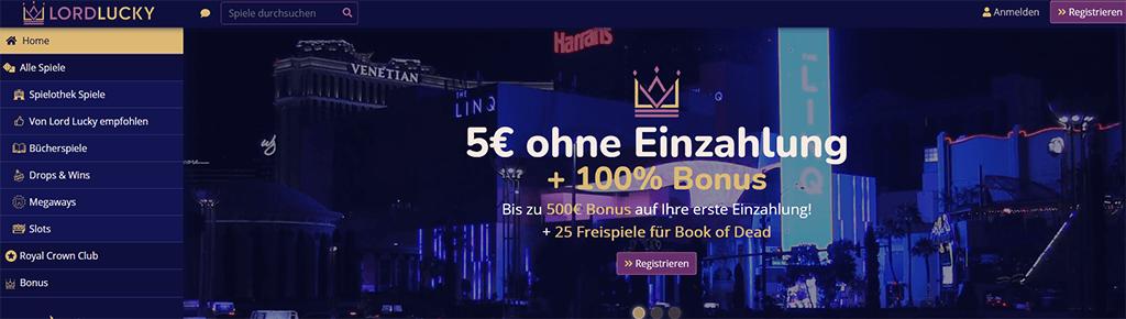 Lord Lucky Casino Website