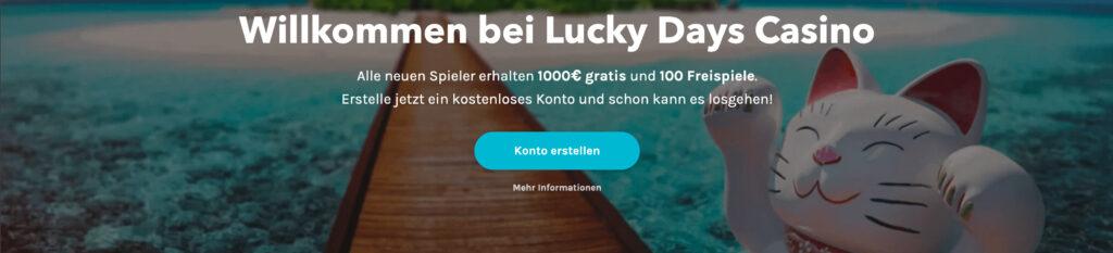 Bonus bei Luckydays