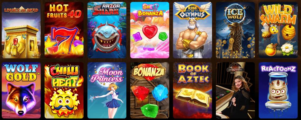 Spieleangebot im AmunRa Casino