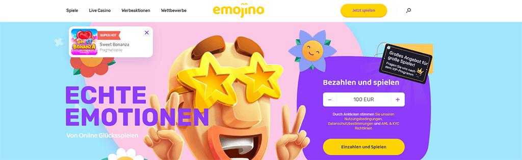 Emojino Casino Webseite