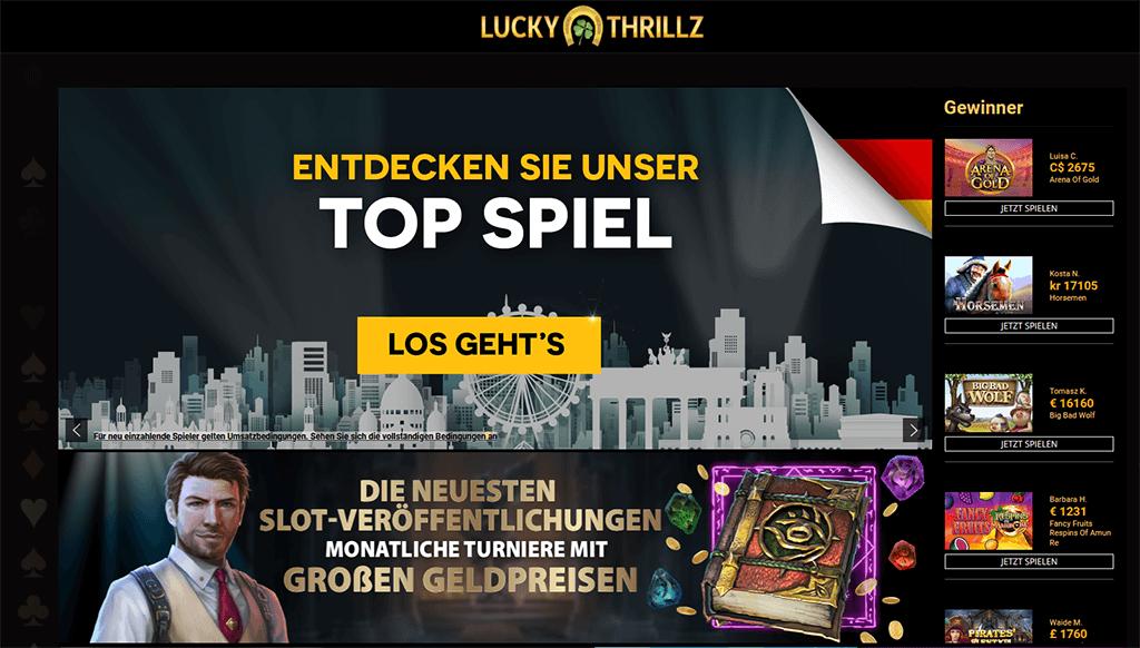 Luckythrillz Casino Webseitee