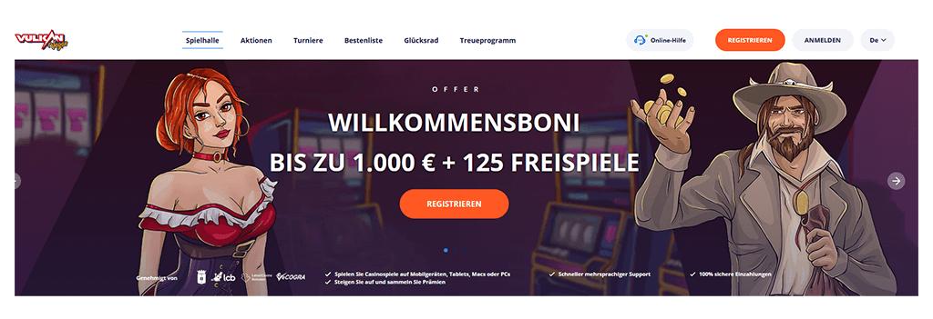 Vulkan Vegas Casino Website