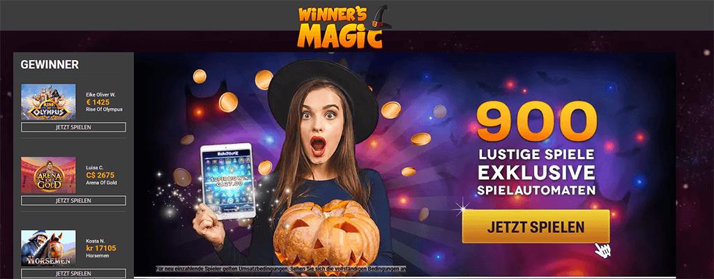 Winners Magic Casino Webseite