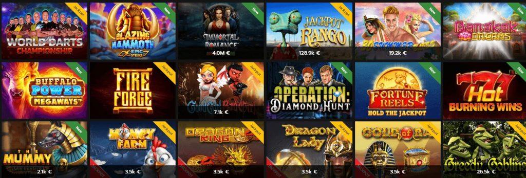 Jackpotslots im Horus Casino