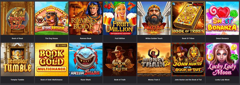 Spieleangebot bei Das ist Casino