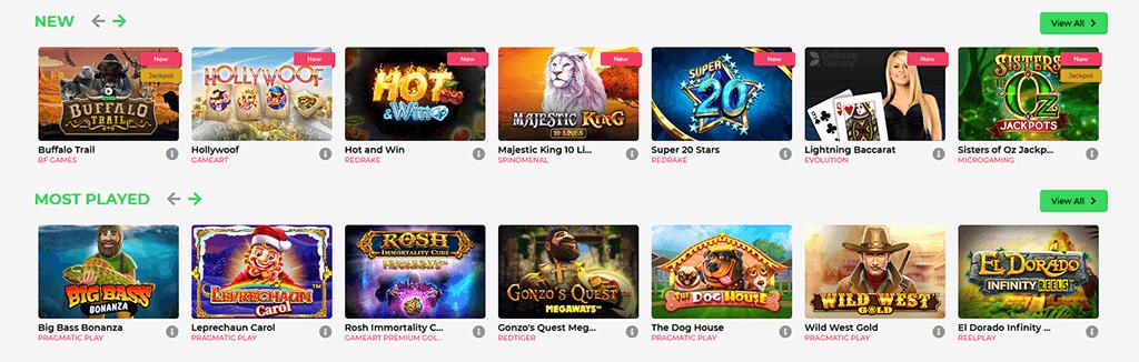 Spieleazswahl im Fortunepanda Casino