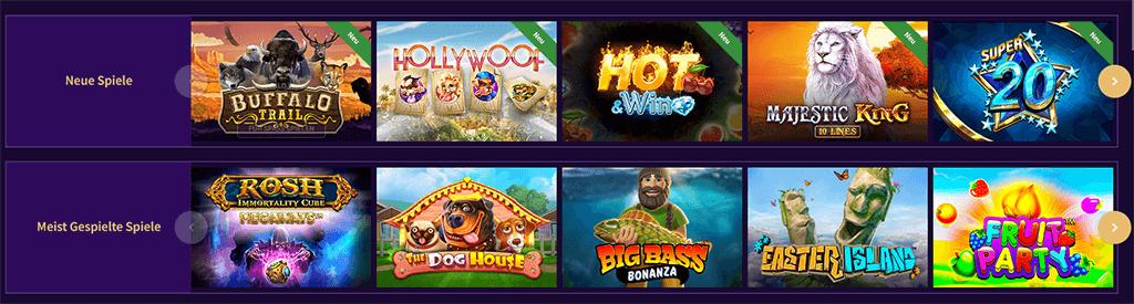 Das Spieleangebot im Haz Casino